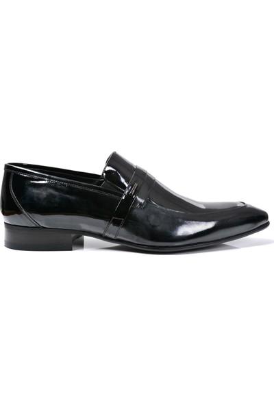 Paul Branco M-65038 Deri Siyah Rugan Erkek Ayakkabı