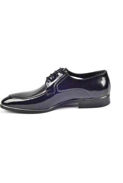 Paul Branco M-65517 Siyah-Rugan Klasik Erkek Deri Ayakkabı