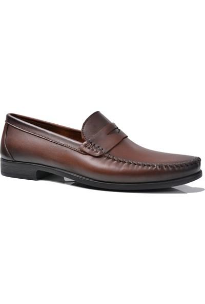 Paul Branco M-93263 Deri Kahve Loafer Erkek Ayakkabı
