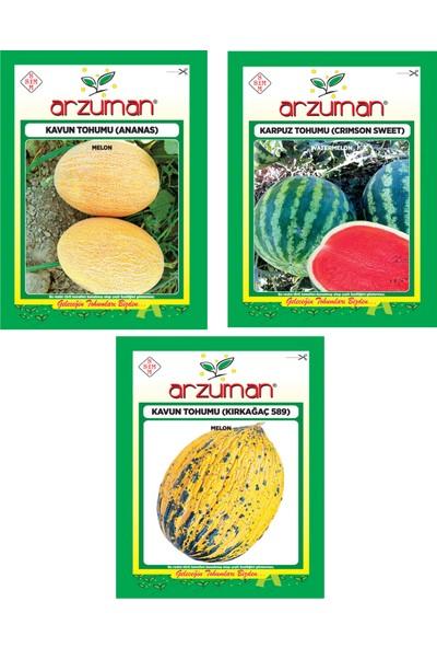 Arzuman Kavun Ananas Crimson Sweet Karpuz Kavun Kırkağaç 589 Tohumu