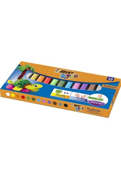 Bic Plastelina Kurumayan Oyun Hamuru 12 Renk