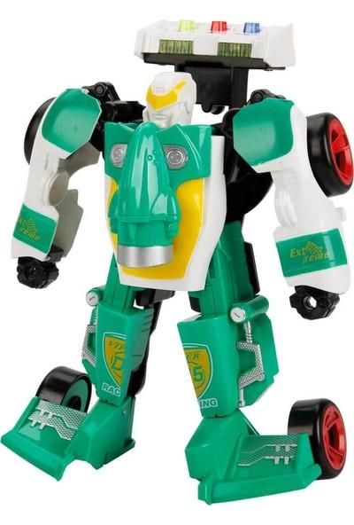 Maxx Wheels Sesli Işıklı Robota Dönüşebilen Araba Yeşil