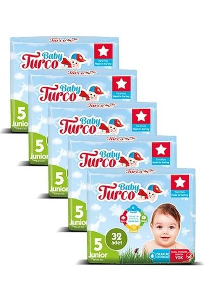Baby Turco Bebek Bezi Junior 5 Beden 32'li x 5'li