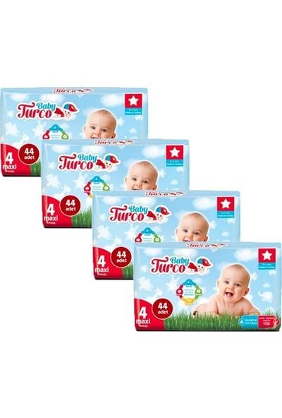 Baby Turco Bebek Bezi 4 Beden Maxi 44'lü x 4'lü