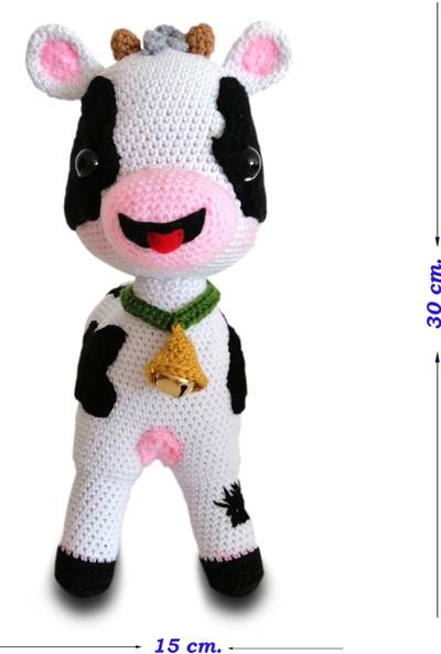 Binbir Baby Çıngıraklı İnek Amigurumi Oyuncak