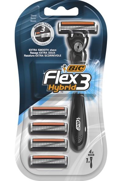 Bic Flex 3 Hybrid Tıraş Bıçağı 4 Kartuşlu