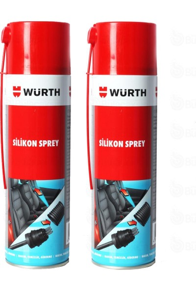 Würth Silikon Sprey 500 ml 2 Adet