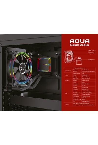 Rampage AQUA120-RGB Tek Fanlı 395 x 120 x 27 mm Su Soğutma İşlemci Soğutucu