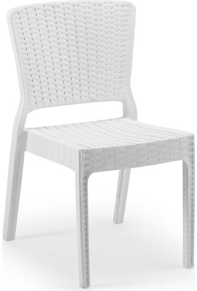 Tilia Antares Rattan Sandalye Beyaz
