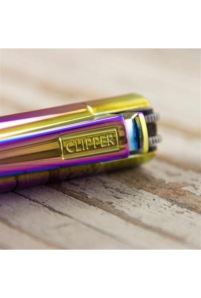 Clipper Isme Özel Metal Çakmak Çok Renkli
