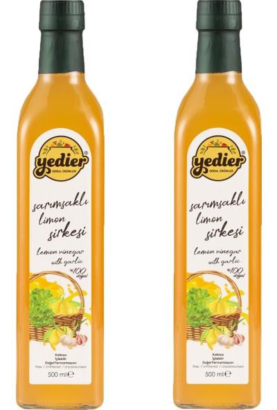 Yedier Sarımsaklı Limon Sirkesi 2 x 500 ml - Katkısız Doğal Fermantasyon