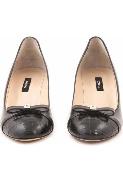 Kemal Tanca Kısa Topuklu Kadın Klasik Ayakkabı 25164