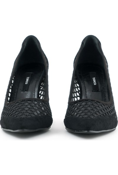 Kemal Tanca Deri Stiletto Kadın Klasik Ayakkabı IS241