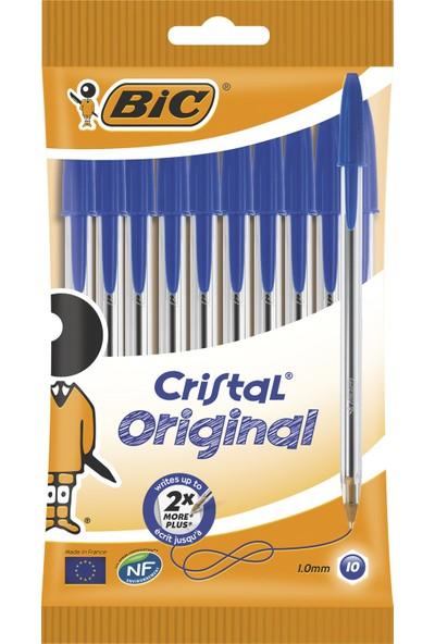 Bic Cristal Medium Tükenmez Kalem Mavi 10'lu