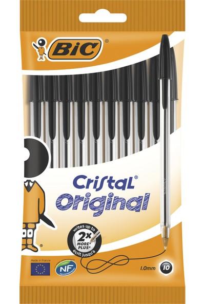 Bic Cristal Medium Tükenmez Kalem Siyah 10'lu