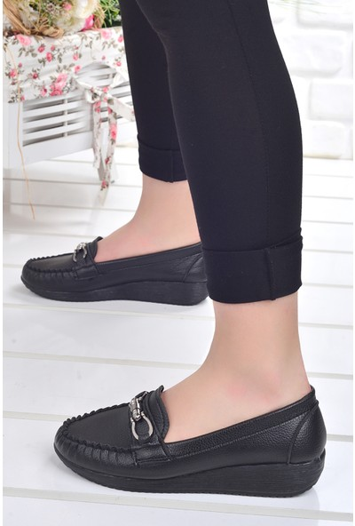 Annamaria T-09 Günlük Cilt Kadın Babet Ayakkabı