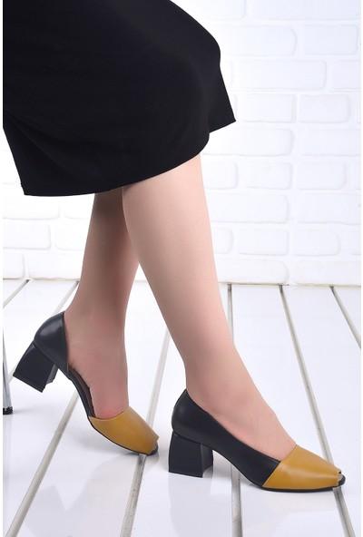 Ayakland 1139 Cilt 5 Cm Topuk Kadın Topuklu Sandalet Ayakkabı