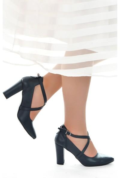 Ayakland 137029-1122 Cilt 9 Cm Topuk Kadın Sandalet Ayakkabı