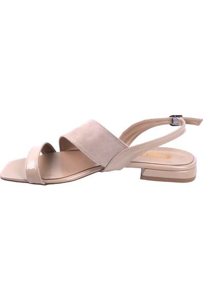 Ayakland 255 Süet Günlük Babet Kadın Sandalet Ayakkabı