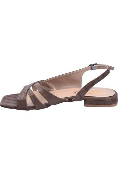 Ayakland 259 Ekose Günlük Babet Kadın Sandalet Ayakkabı