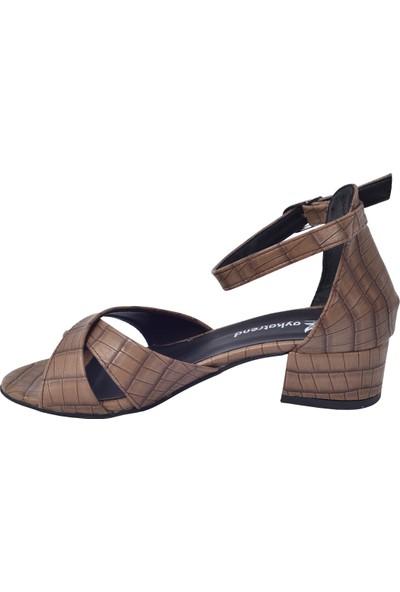 Ayakland 352-08 Parma 3 Cm Topuk Kadın Sandalet Ayakkabı