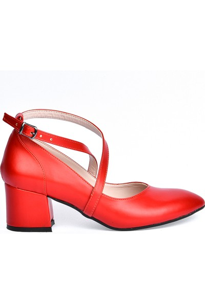 Ayakland 544-1121 Babet 5 Cm Topuk Kadın Cilt Sandalet Ayakkabı