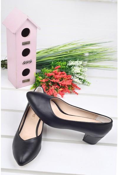 Ayakland Alens 233 Büyük Numara 6 Cm Topuk Kadın Cilt Ayakkabı