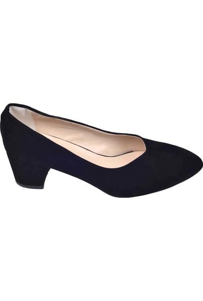 Ayakland Alens 233 Büyük Numara 6 Cm Topuk Kadın Süet Ayakkabı