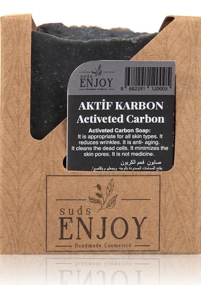 Suds Enjoy Doğal Aktif Karbon El Yapımı Yüz, Saç ve Vücut Sabunu 100 gr
