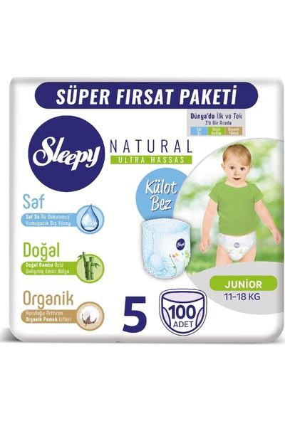Sleepy Mega Paket Junior 5 Beden Külot Bez 100'LÜ 11-25 kg - Islak Mendil