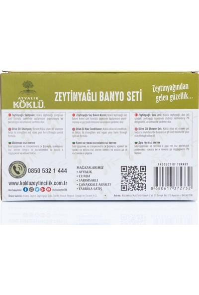 Köklü Zeytincilik Zeytinyağlı 3'lü Banyo Seti