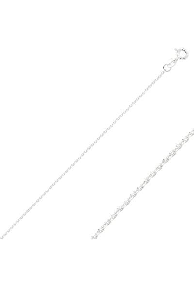 Luxilver 30 Mikron Tıraşlı Forse Zincir Gümüş Kolye