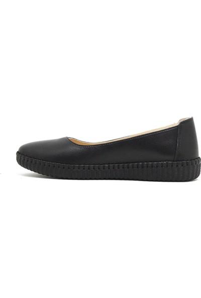 Marine Shoes 7001 Siyah Kadın Ayakkabı