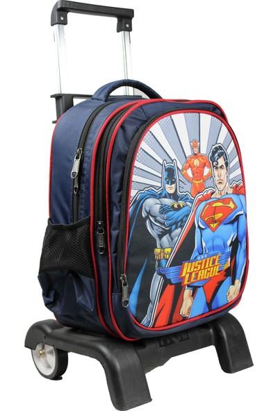 Öykü Çekçekli Okul Çantası Batman Superman Beslenme Çelik Matara