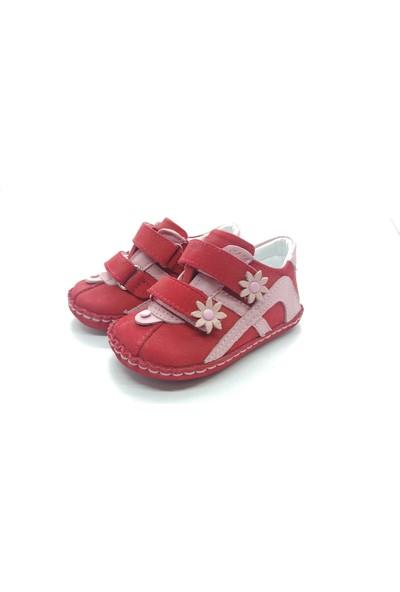 Arulens Anatomik Deri Makosen Kırmızı Çocuk Ayakkabı