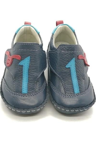 Arulens Anatomik Deri Makosen Lacivert Çocuk Ayakkabı