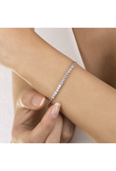 Swarovski Kadın Zirkon Taşlı Gümüş Bileklik