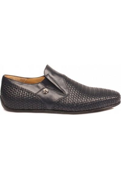 Cesare Paciotti Erkek Loafer Ayakkabı Koyu Mavi 45707IS