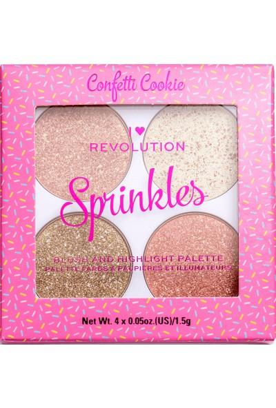 I Heart Revolution Blush and Sprinkles Confetti Cookie Allık Paleti