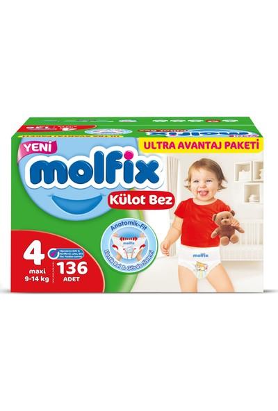 Molfix Külot Bez 4 Beden Maxi 136'lı Ultra Avantaj Paketi Kutu