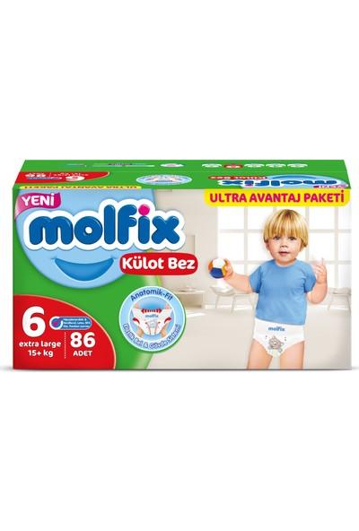 Molfix Külot Bez 6 Beden Extra Large 86'lı Ultra Avantaj Paketi Kutu