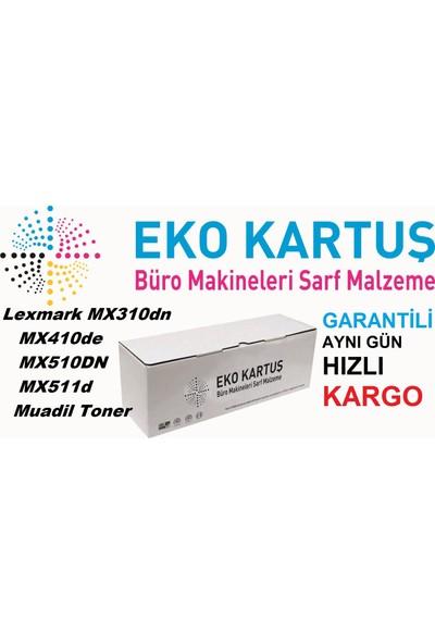 Eko Kartuş Lexmark MX310-MX410-MX510-MX511 (60F5H00 605H) 10000 Sayfa Siyah Muadil Toner