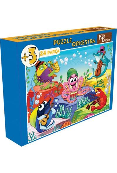 Kids Babies Orkestra Puzzle 24 Parça