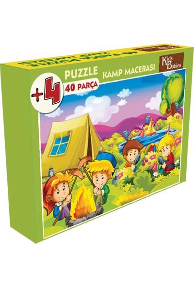 Kids Babies Kamp Macerası Puzzle 40 Parça