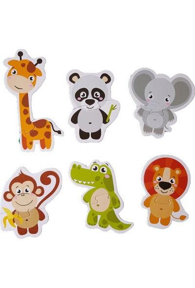 Kids Babies Hayvanlar Baby Puzzle 6 Adet 2 Parçalı