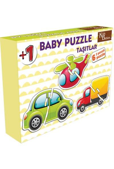 Kids Babies Taşıtlar Baby Puzzle 6 Adet 2 Parçalı