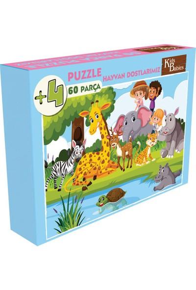 Kids Babies Hayvan Dostlarımız Puzzle 60 Parça