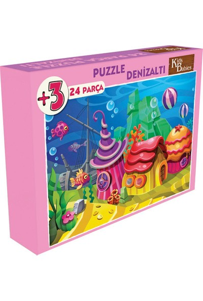 Kids Babies Denizin Altında Puzzle 24 Parça