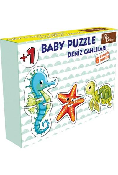 Kids Babies Deniz Canlıları Baby Puzzle 6 Adet 2 Parçalı