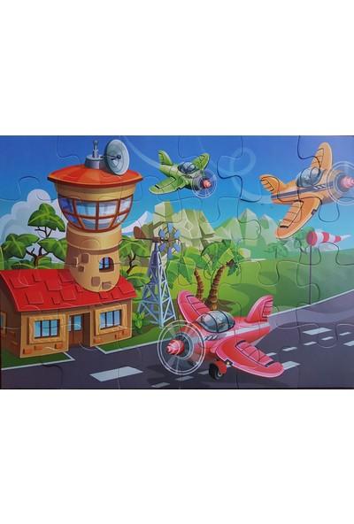 Kids Babies Uçuş Zamanı Puzzle 24 Parça